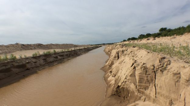 Río Pilcomayo en la zona de El Pantalón paraguayo. Foto: Gabriela Torres.