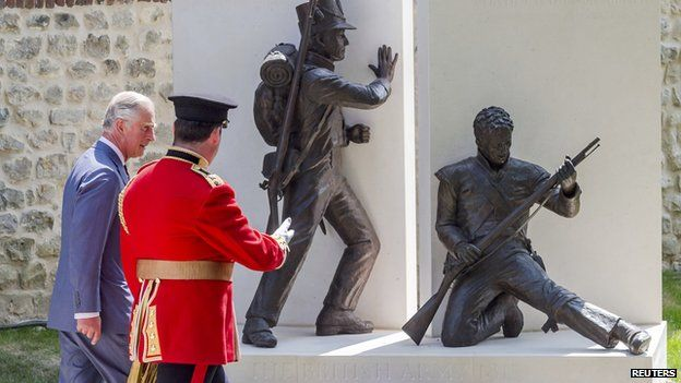 Prince Charles unveils memorial