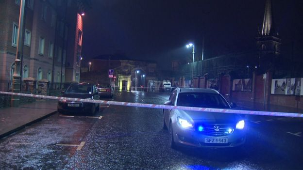 Roads cordoned off in Londonderry