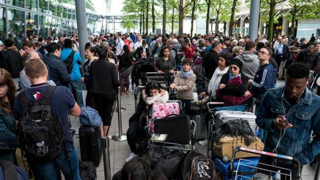 Queues at Heathrow Terminal 5