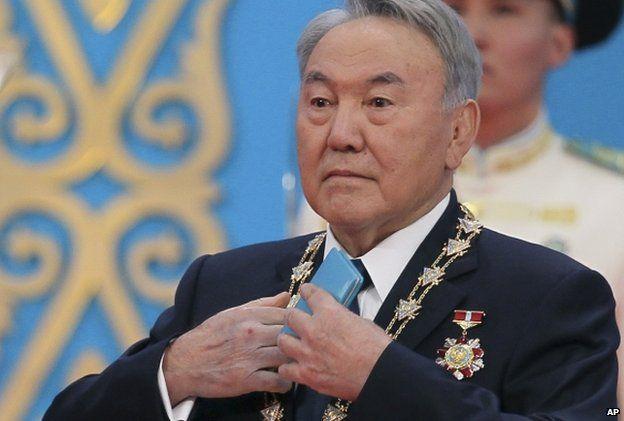 Kazakhstan's President Nursultan Nazarbayev