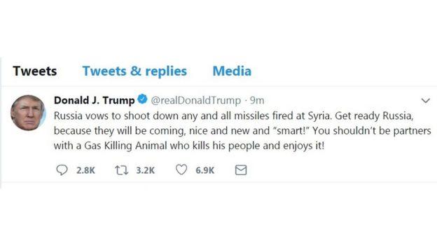 грозный твит Трампа