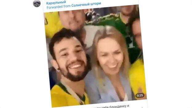 Video fans Brasil dan Rusia