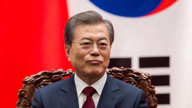 El presidente surcoreano Moon Jae-In