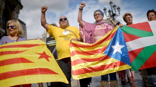 متظاهرون في برشلونة