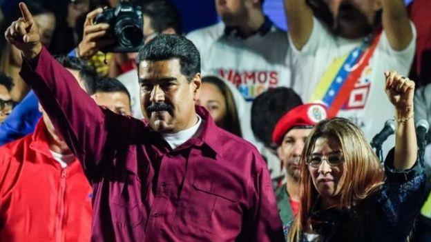 Nicolás Maduro na Cilia Flores