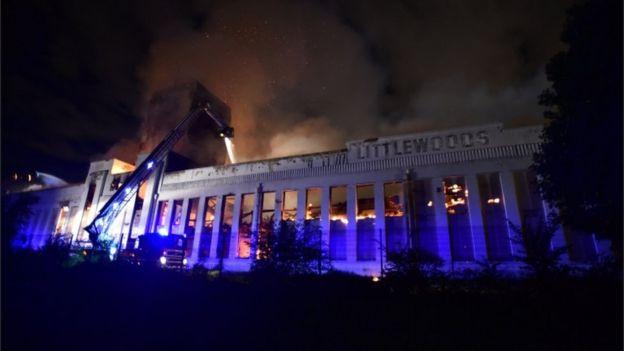 Littlewoods building fire