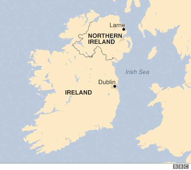 Map Of Ireland In Irish.Reality Check Red Lines On The Irish Border Bbc News