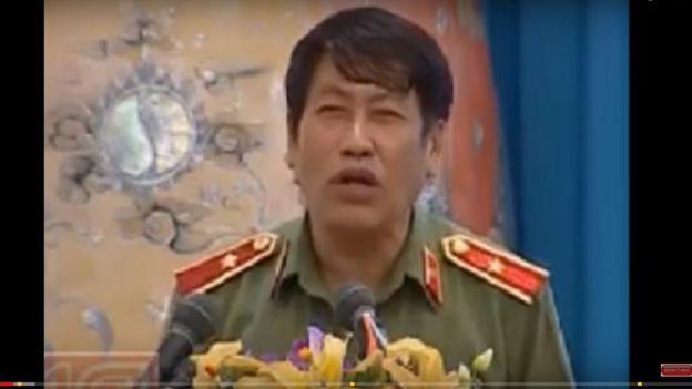 Thiếu tướng Trương Giang Long trong video clip dài 30 phút về quan hệ Việt Trung phát trên YouTube hồi tháng 3/2017.