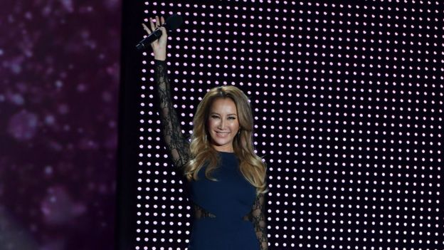 CoCo Lee speaks onstage during Macy's Presents Fashion's Front Row kicks-off New York Fashion Week at The Theater at Madison Square Garden on September 7, 2016 in New York City