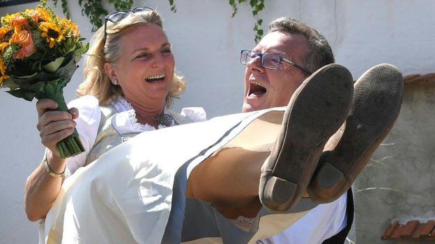 Kneissl con su esposo Meilinger