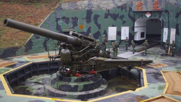 1958年的八二三炮戰之後,美國提供了240公厘榴彈炮給台灣部署在金門和馬祖。