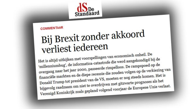 Belgian newspaper website De Standaard