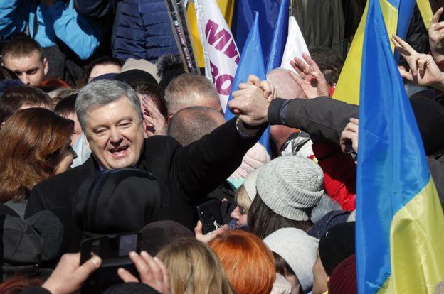 现任总统波罗申科的支持度近年不断下挫。