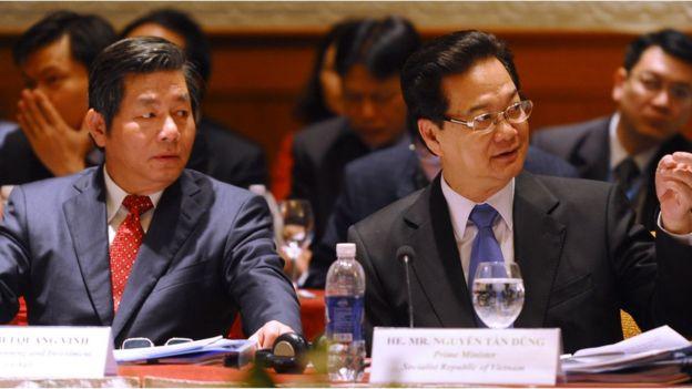Ông Bùi Quang Vinh, nguyên Bộ trưởng Kế hoạch và Đầu tư và Cựu thủ tướng Nguyễn Tấn Dũng