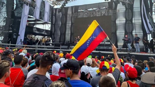 """Concierto """"Para la guerra nada"""", organizado por el gobierno de Nicolás Maduro."""