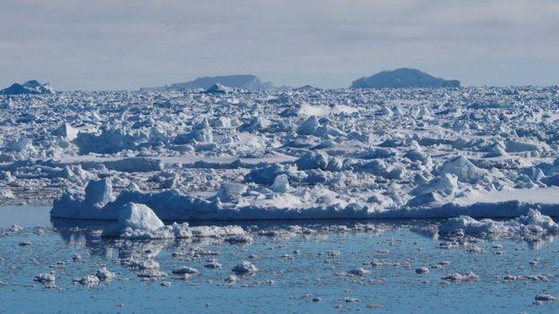 Aguas congeladas del Mar de Weddell