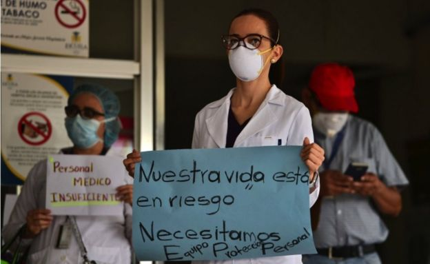 Protesta de médicos hondurenos