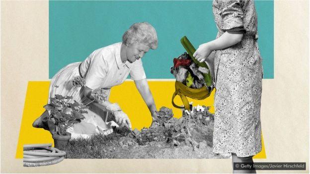 Ilustração sobre desperdício