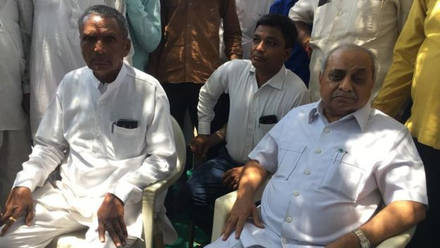 Dy CM Nitin Patel visits Lhor village where a community was allegedly boycotted