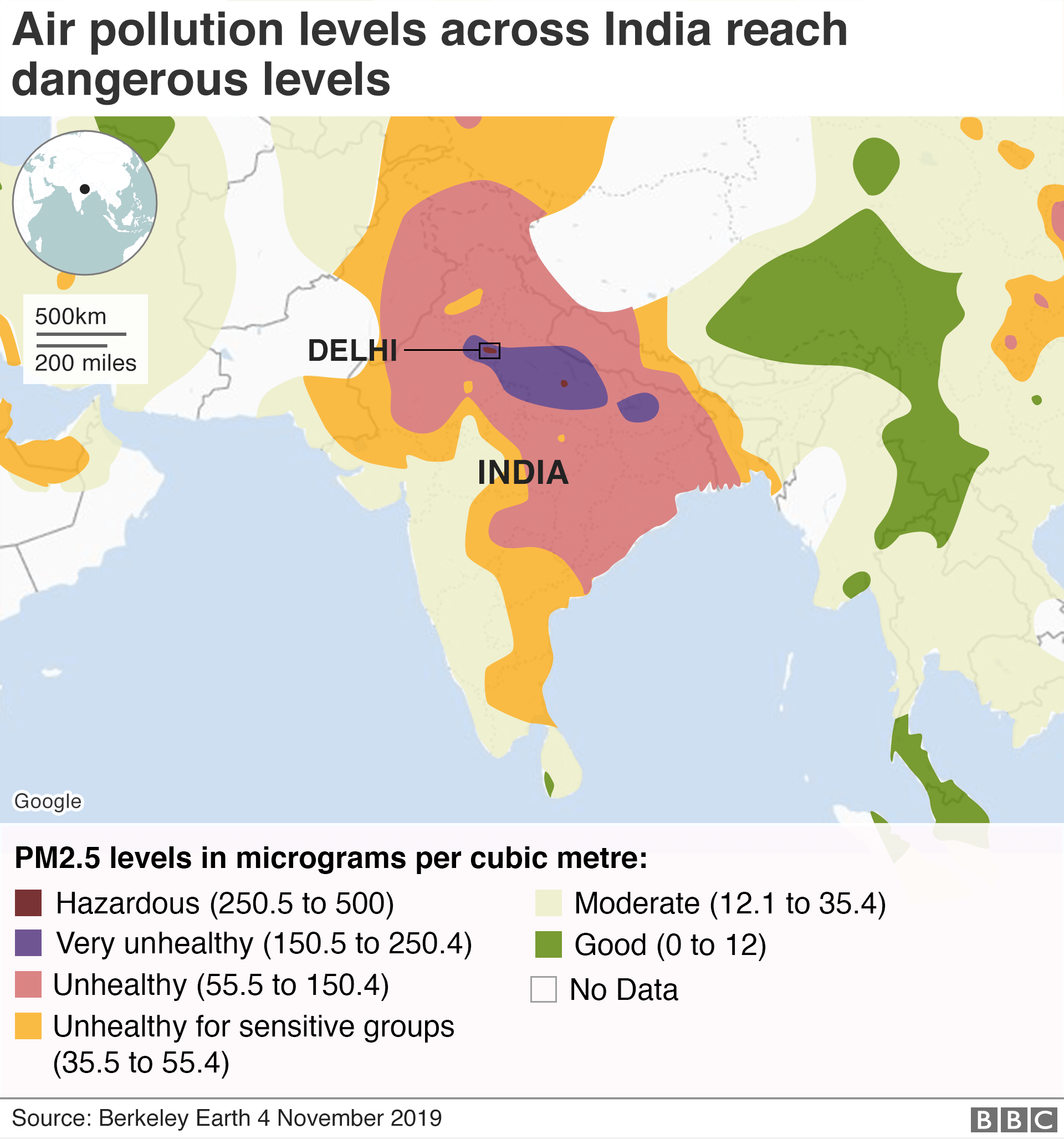 Thick Smog in Delhi and La: Is India Crop Burning to ... on goa map, islamabad map, gurgaon map, haryana map, vizag map, los angeles map, madras map, mumbai map, kolkata map, moscow map, karachi map, india map, agra map, indian subcontinent map, malacca map, hong kong map, deccan plateau map, gujarat map, vasant vihar map, dhaka map,