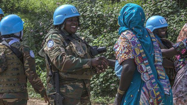 Zambian women with UN peacekeeping mission in CAR, 12 Nov 18