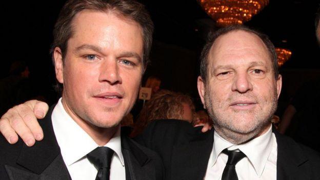 Matt Damon y Harvey Weinstein.