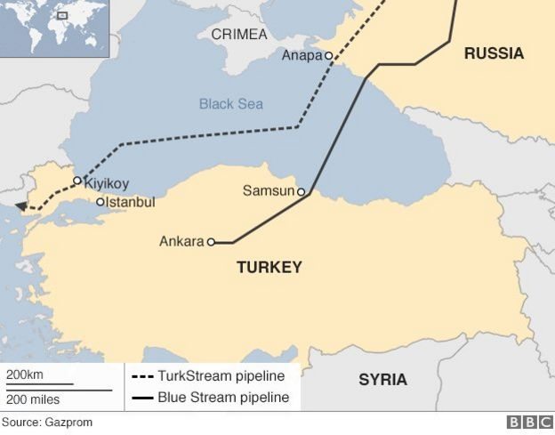 Russia Halts Turkey Gas Project Talks Amid Syria Row Bbc News