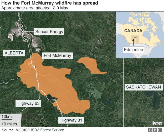 Canada Wildfire 20 Of Fort Mcmurray Homes Destroyed Says Mp Bbc