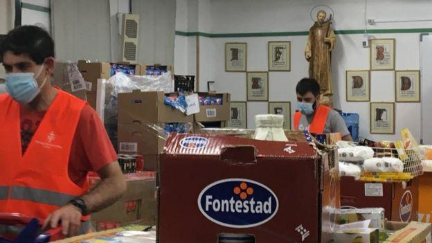 Voluntarios de la parroquia de San Juan de Dios, Madrid