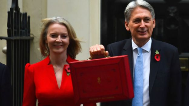 Liz Truss y Philip Hammond