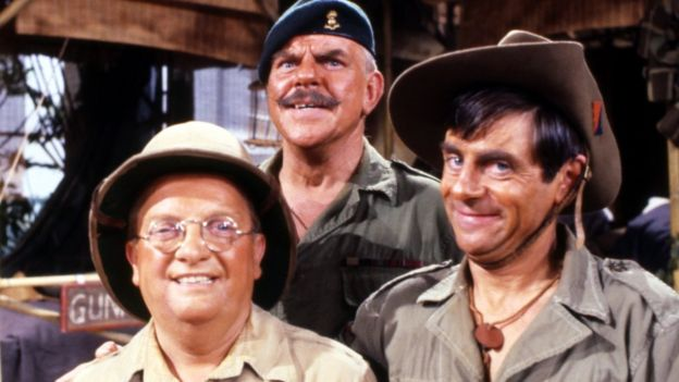 ba3fceb78106c Pictured in 1981 with Don Estelle and Melvyn Hayes in It Ain t Half Hot