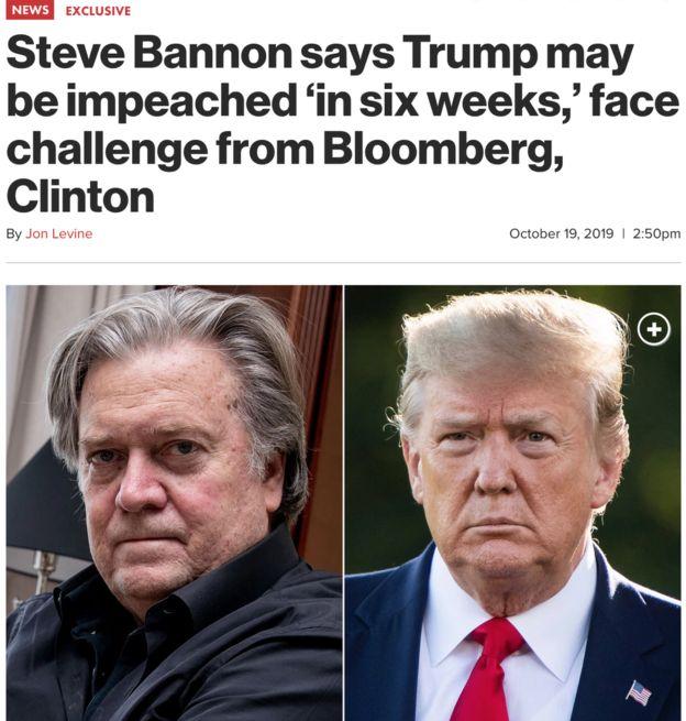 استیو بنن و دونالد ترامپ