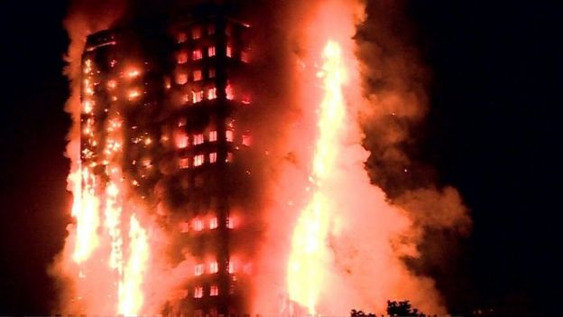 Incêndio em prédio de Londres