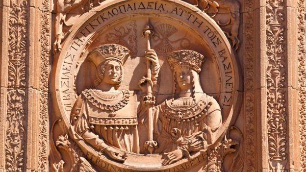 Los Reyes Católicos, representados en la catedral de Salamanca.