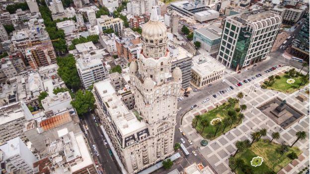 Foto aérea de Montevidéu