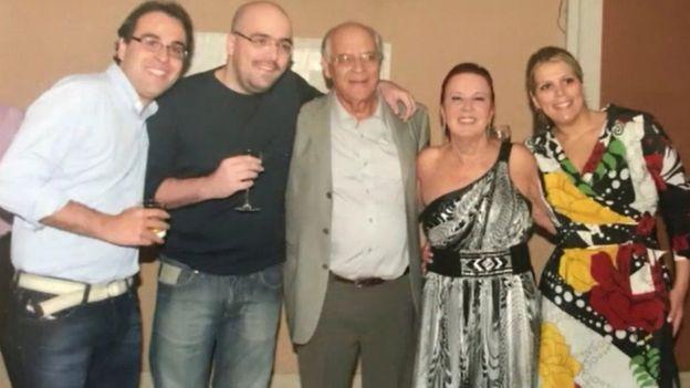 A família: Saint-Clair Diniz, Bruno Souto, Saint-Clair Martins, Elizabeth e Raquel Souto