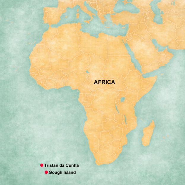 Gough Island map