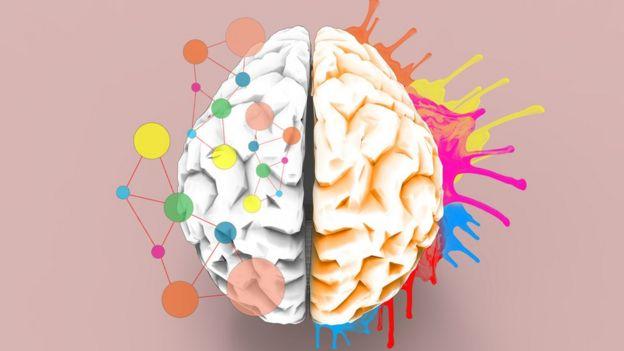 Ilustração mostra cérebro com desenhos diferentes e divertidos