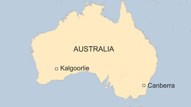Australia Map Kalgoorlie.Australian Finds A 100 000 Gold Nugget Using Metal Detector Bbc News