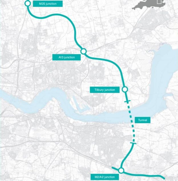 Lower Thames Crossing to be 'biggest road project since M25'…..