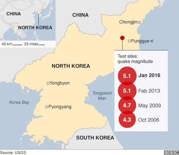 North Korea nuclear State claims first hydrogen bomb test  BBC News