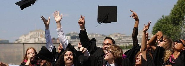 Graduates celebrating in 2013