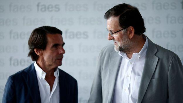 José María Aznar y Mariano Rajoy