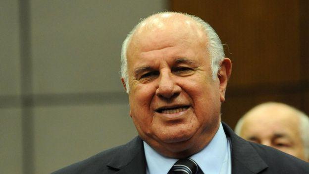 Óscar Denis durante su asunción en 2012