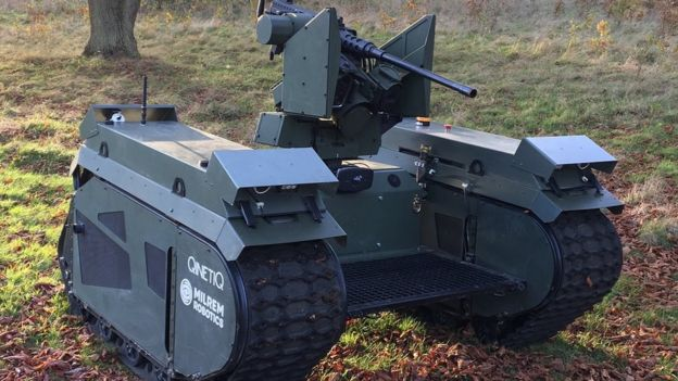 Milrem/Qinetiq unmanned ground vehicle