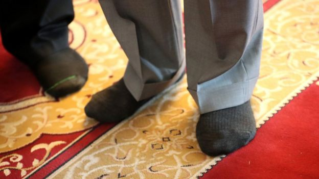 The Prince of Wales' feet