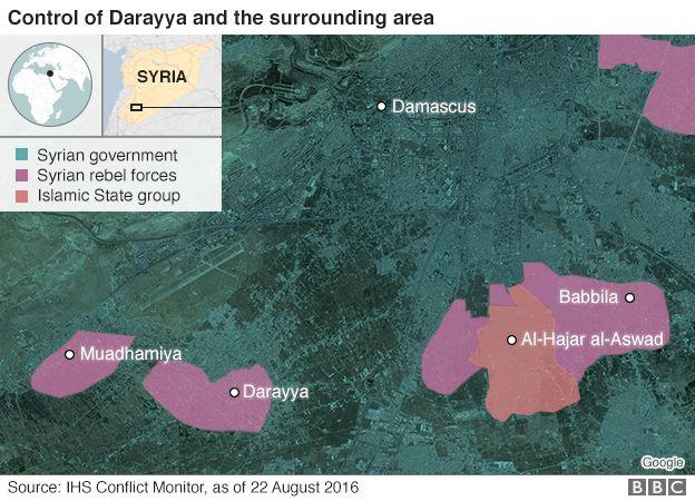 Darayya and surrounding area