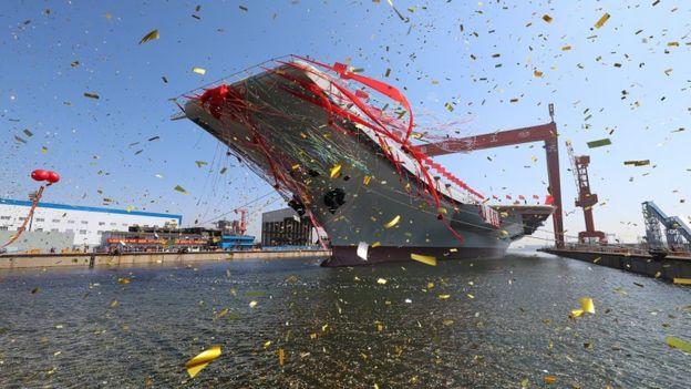 中国第二艘航母下水