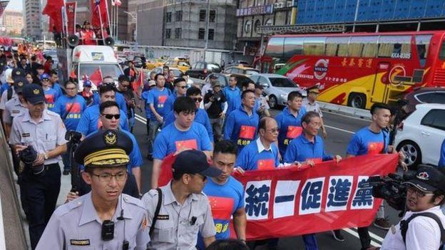 支持兩岸統一的統促黨,被台灣檢方無預警搜查。
